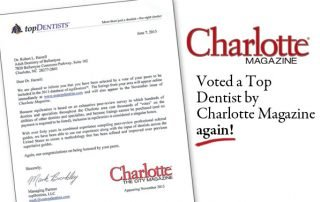 Voted top charlotte dentist 2013
