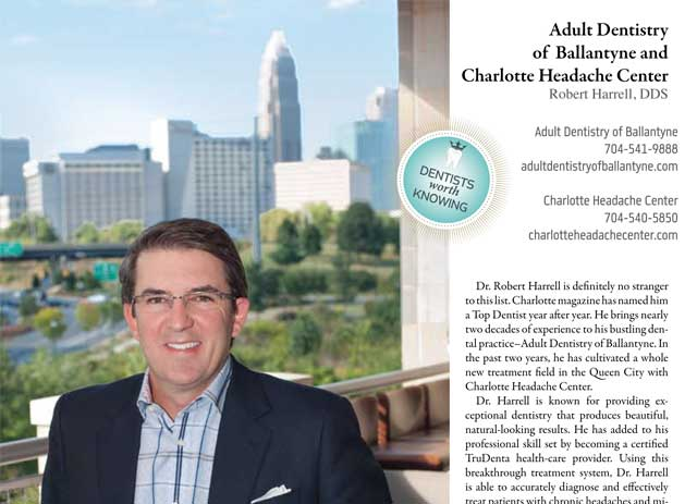 "Top Charlotte Dentist in ""Charlotte"" magazine"